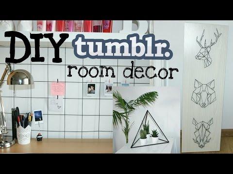DIY tumblr room decor | ozdabianie pokoju