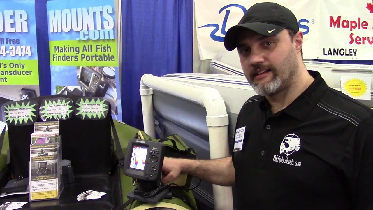 easy fish finder mount for inflatable boats - youtube, Fish Finder