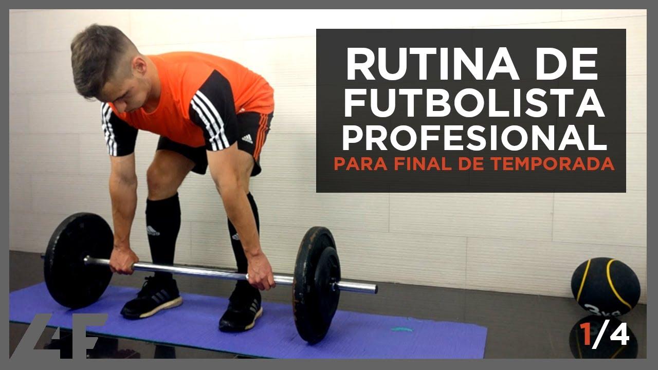Plan de entrenamiento semanal para un futbolista