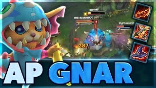I DO SO MUCH DAMAGE | I CANT BELIEVE THIS ACTUALLY WORKED | FULL AP CARRY GNAR SUPPORT | BunnyFuFuu