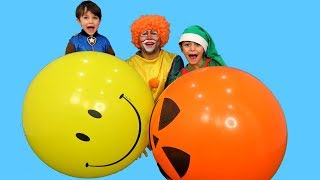 Learn Colors Balloons with Funny ELF - Learn And Play With