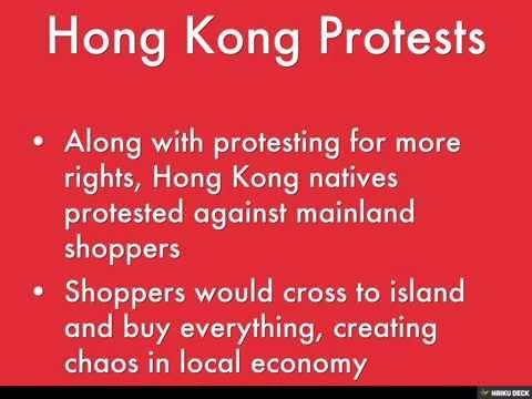 China's Government Limits Mainland Hong Kong Tourism by Finbar O'Neill