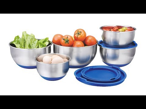 Silicone Bottom Mixing Bowls - Great Value!