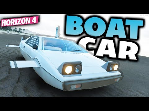 Forza Horizon 4 - JAMES BOND WATER CAR Customization and DRIVING ON WATER!