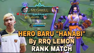 "RRQ LEMON COBA HERO BARU ""HANABI"" di RANK MATCH MOBILE LEGEND"