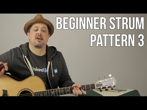 Beginner Strumming Patterns For Acoustic Guitar Pattern 3  Beginner Guitar Lessons