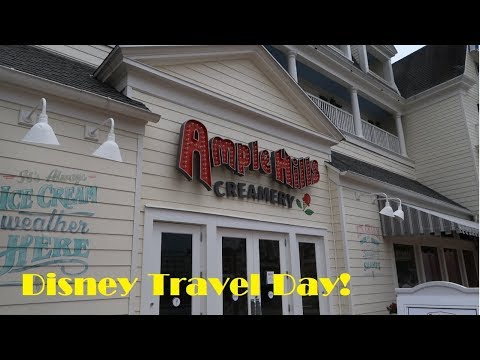 Travel Day & Trying Ample Hills Creamery!   May 2017 Disney World Trip
