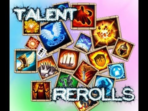 Castle Clash - Talent Reroll - 60 Hero Talents Refresh Cards Sponsored By Some Weeb