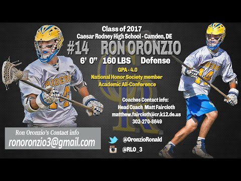 Ron Oronzio 2016 Highlights, Caesar Rodney High School