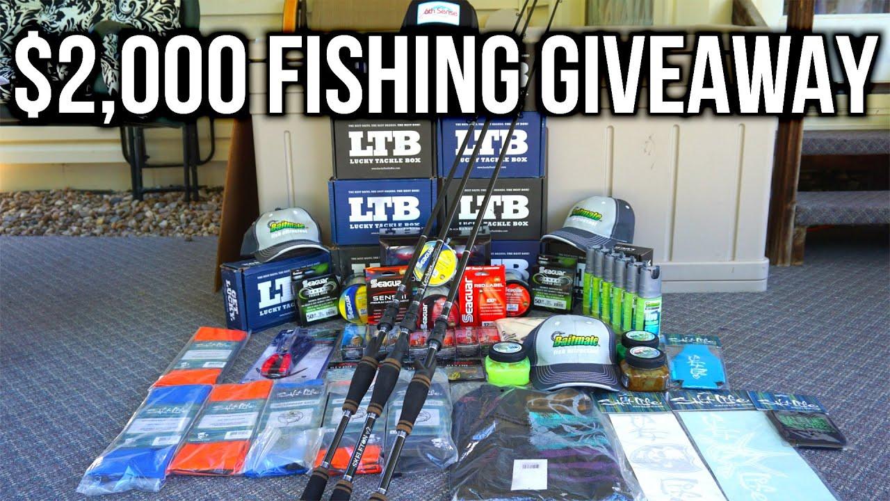 2 000 bass fishing gear giveaway youtube for Bass fishing gear