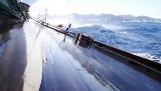 In the Med aboard J Class yacht Shamrock V