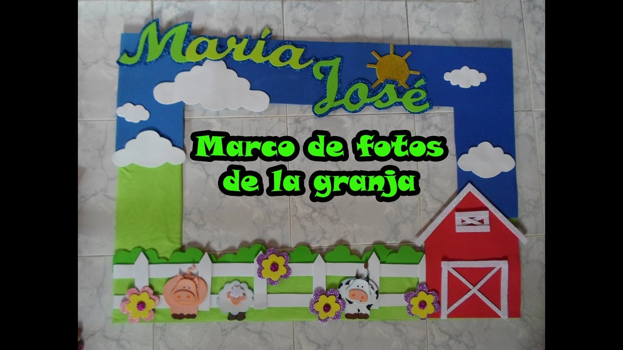 Marco para fotos la granja youtube for Decoracion de marcos para fotos