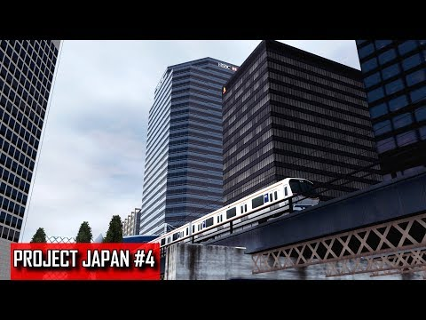 Cities: Skylines - PROJECT JAPAN #4 - Elevated train station among the skyscrapers of Seishoteien