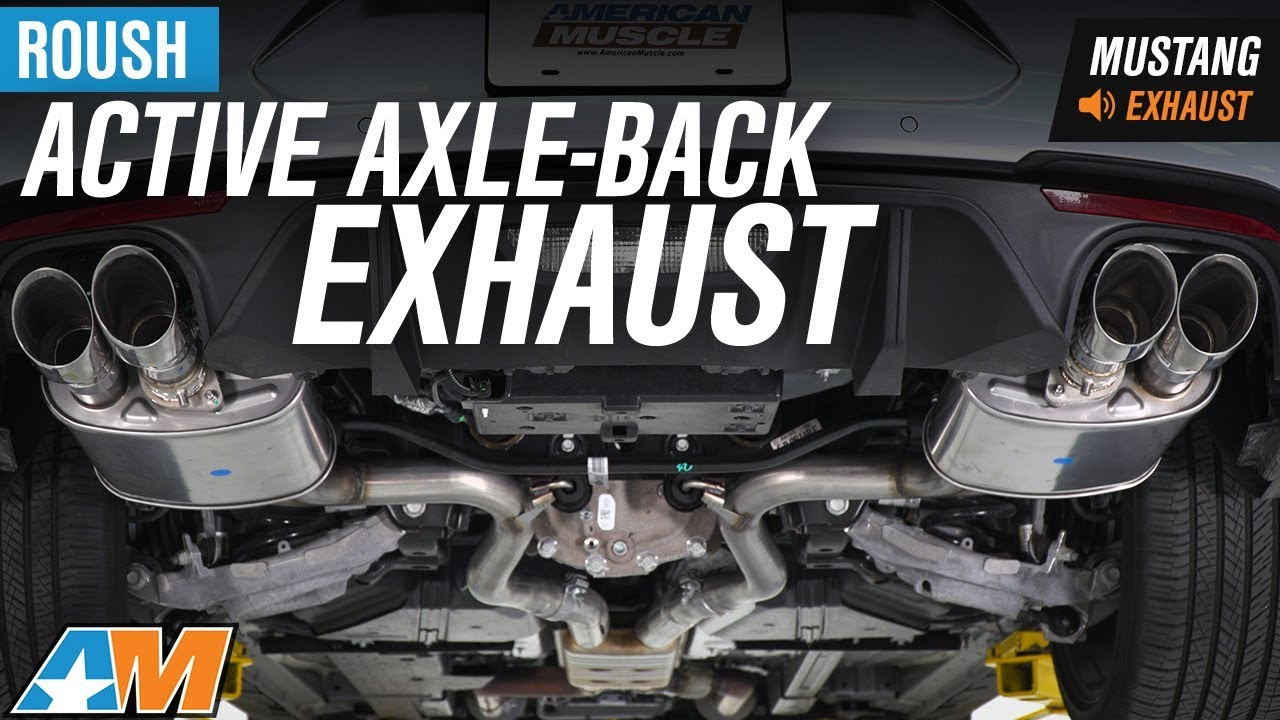 2018 mustang gt roush active axle back exhaust sound clip install