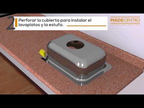 C mo hacer e instalar una cubierta para cocina youtube for Como instalar una cocina integral pdf