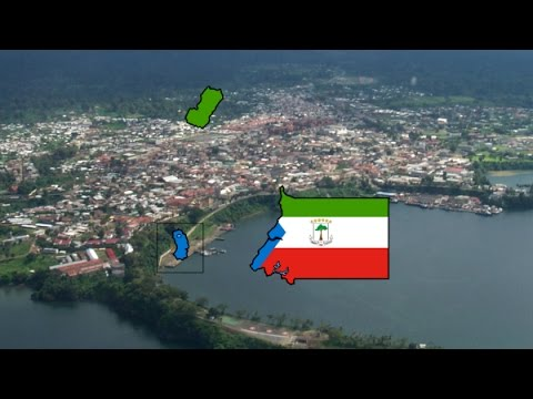 Flag Map Speedart - Equatorial Guinea