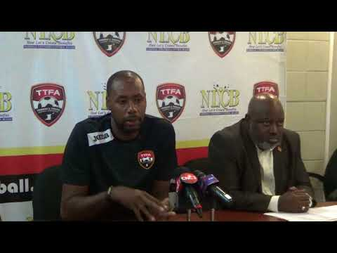 Dennis Lawrence speaks at media briefing ahead of Martinique and Guadeloupe friendlies