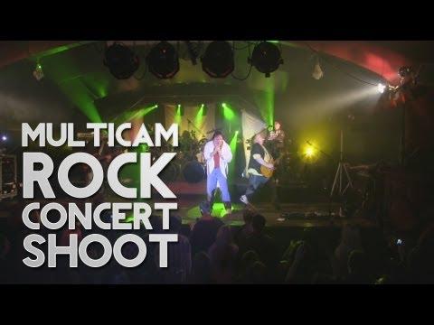 Film Scene - Shooting a multicam DSLR rock concert music video production