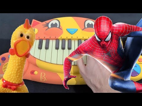 SPIDERMAN INTO THE SPIDER VERSE – SUNFLOWER ON CAT PIANO,CHICKEN AND A DRUM CALCULATOR (Post Malone)