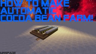 How to make automatic cocoa bean farm in Minecraft 1.8 (Easy and Efficient!)