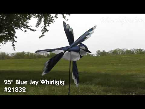 21832 25in Blue Jay Whirligig