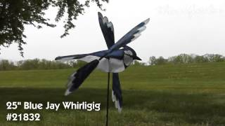 21832 25in Blue Jay Whirligig