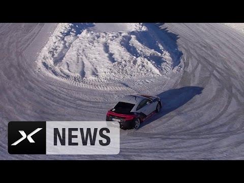 David Alaba und Franck Ribery mit Auto-Action im Schnee | FC Bayern
