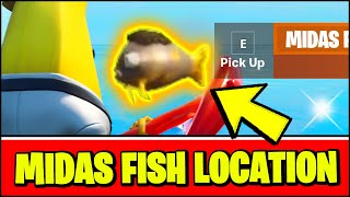 *NEW* Fortnite MIDAS FLOPPER Location (How to catch Midas Fish & what it does)