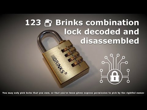 123 🔐 Brinks Combination Lock Decoded And Disassembled