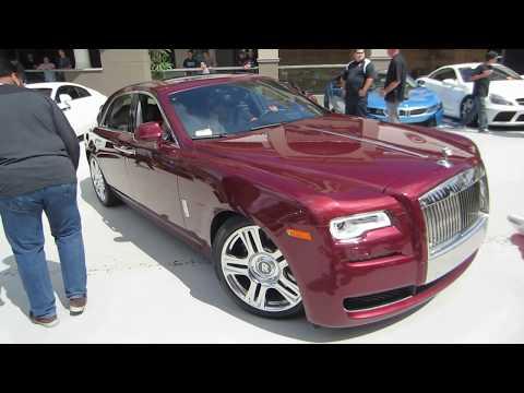 Red Velvet Sparkle Rolls-Royce Ghost