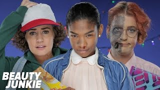 Eleven, Dustin and Barb Costumes: STRANGER THINGS | Beauty Junkie