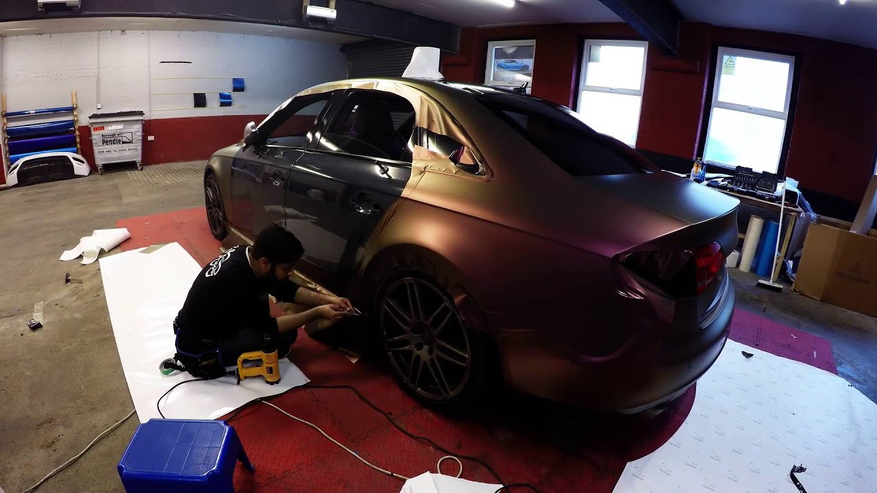 Audi A4 Quattro Aubergine Bronze Wrap Youtube