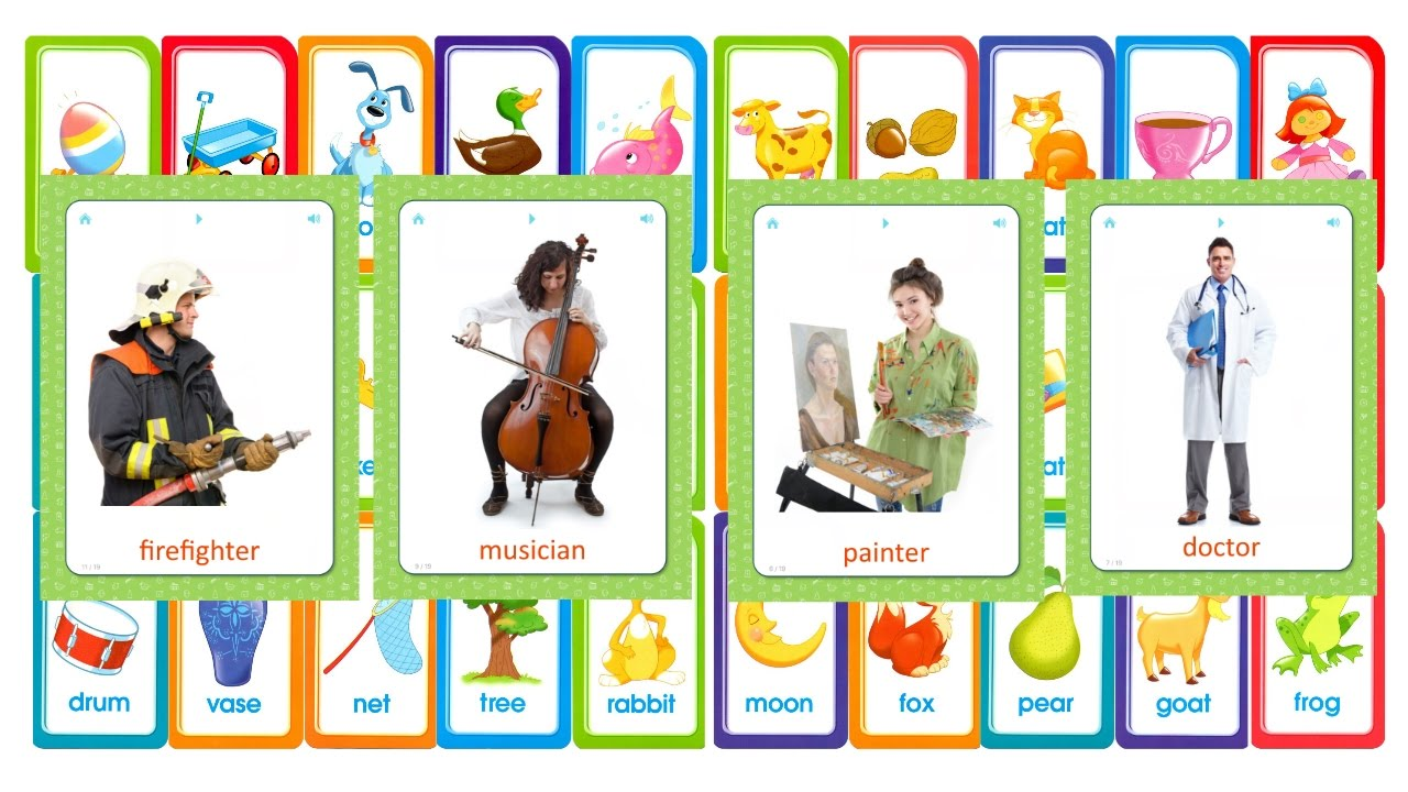 Flashcards for kids - professions - help your child learn basic ...