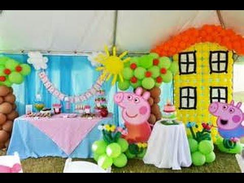 Ideas Con Globos Para Fiesta De Peppa Pig