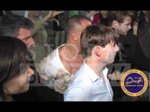 Tom Cruise and Katie Holmes partying in Saint Tropez