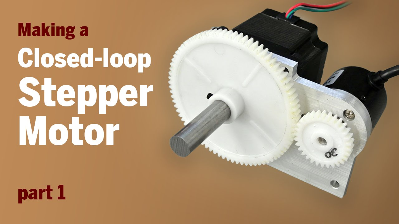 Converting a stepper motor to a closed loop stepper motor for Dc stepper motor working