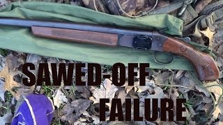 Magnum Load DESTROYS Sawed Off Shotgun.