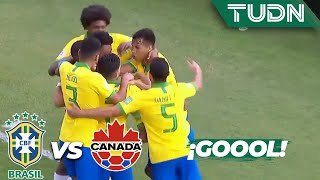¡Goool de Peglow! | Brasil 1 - 0 Canadá | Mundial Brasil Sub-17 - J 1 | TUDN