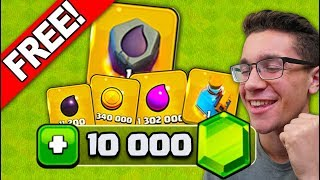 GETTING 10,000 GEMS IN ITEMS FOR FREE! (Clash of Clans)