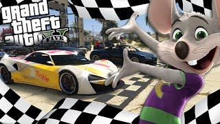 The NEW Chuck E Cheese goes STREET RACING MOD (GTA 5 PC Mods Gameplay)