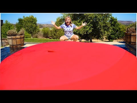 LARGEST ORBEEZ WATER BALLOON! (OVER 10FT!) // SoCassie