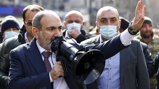 Armenia's Prime Minister Nikol Pashinyan accuses military chiefs of 'attempted coup'