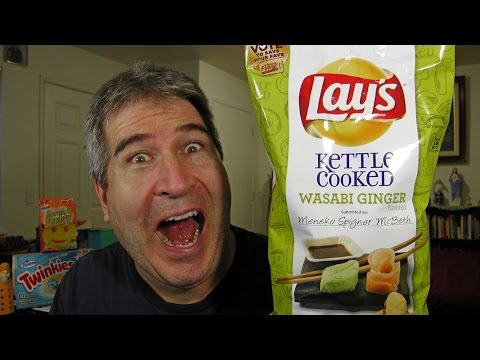 Lays Wasabi Ginger Potato Chips REVIEW #SaveWasabi #DoUsAFlavor