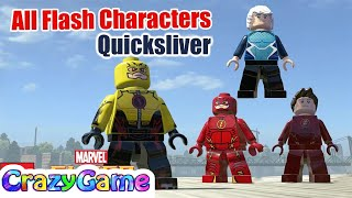 All Flash Characters Vs Quicksliver Free Roam - LEGO Marvel Super Heroes MOD