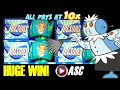*HUGE WIN* THE JETSONS | WMS - MAX BET! George Jetson 10X PAY Slot Machine Bonus