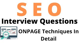 On Page Optimization Techniques In Detail | Latest Seo Interview Questions | All Interview Questions