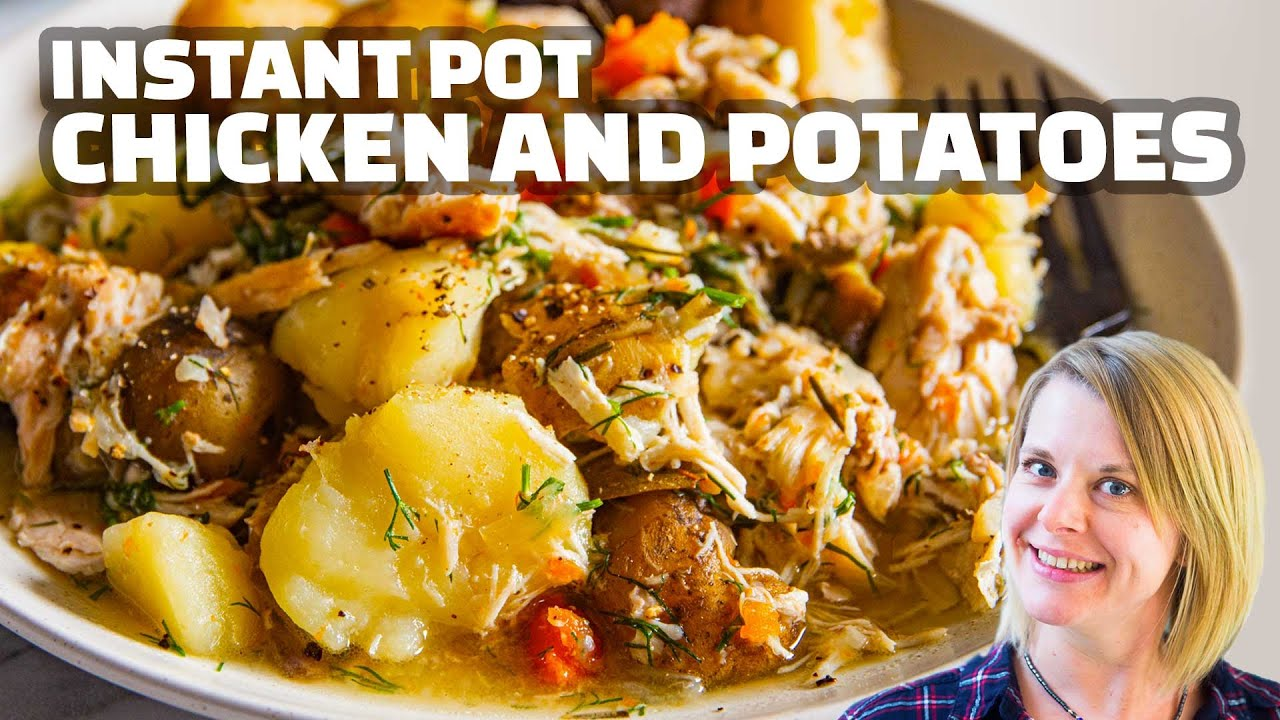 Easy Instant Pot Chicken And Potatoes Recipe Healthy One Pot Meal Dinner Youtube