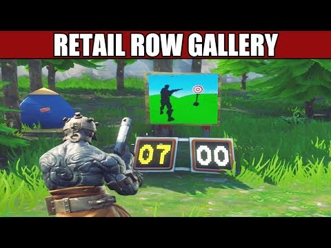 Shooting Gallery North Of Retail Row Location - Fortnite Battle Royale
