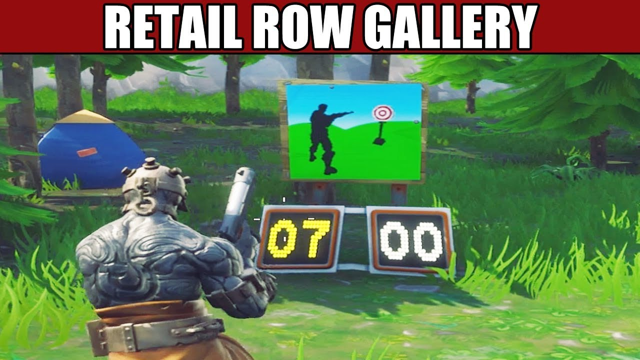 shooting gallery north of retail row location fortnite battle royale - where is the shooting galleries in fortnite