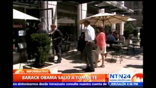Obama sorprende a sus 'vecinos' al salir a tomar té sin su protocolario cuerpo de seguridad